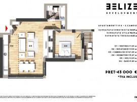 Apartament 2 camere,43000 Euro,Bloc Nou,Pantelimon