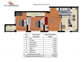 Apartament 3 camere Bloc finalizat 2018- utilitati - Ravoha