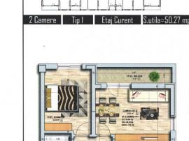 Apartament 2 camere decomandat -49 mp- militari