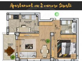 Apartament cu 2 camere, Sisesti - Doi Cocosi