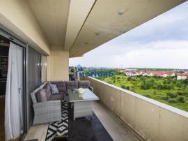 Pipera apartament generos cu semineu si terasa cu view pe l