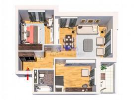 Comision 0, apartament 2 camere, Tatarasi, finalizat, 59mp