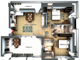 Penthouse semifinisat in zona Profi-Eroilor, Floresti
