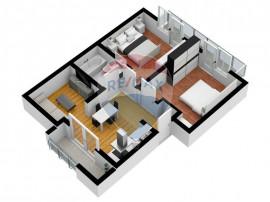 Apartament 2 camere | Etaj 1 cu privire spre strada
