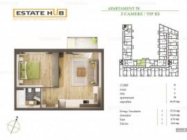 Apartament 2 camere, direct de la dezvoltator!