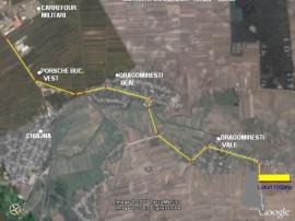 Teren 1000mp toate utilitățile 4km de carrefour militari