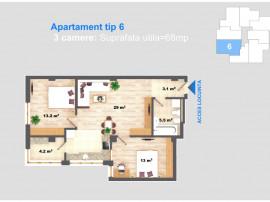 Apartament cu 3 camere, 68mp, Cug