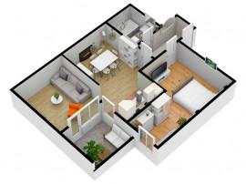 Apartament 2 camere 56 mpu - Etaj 2- Comision 0%