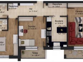 Apartament cu 3 camere - boxă inclusă în preț 5% DISCOUNT