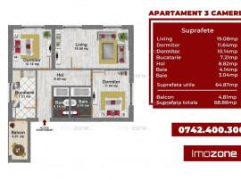 3 camere decomandat - Bloc Finalizat - Bucurestii Noi - P...