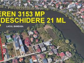 Teren 3153 mp | deschidere 21 ml la Lacul Baneasa | Damaroai