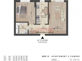 Apartament 2 camere decomandat spatios