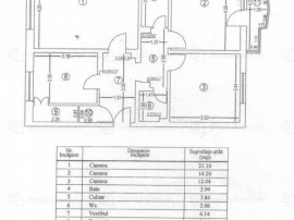 Apartament 3 camere - 13 Septembrie / Sebastian, parc, 77 mp