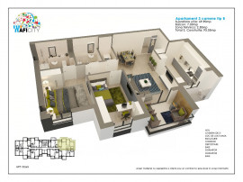 Apartament 3 camere tip B langa statia de metrou