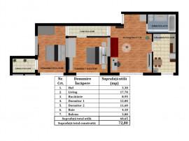 Rahova – Antiaeriana- Apartament 3 camere tip C3