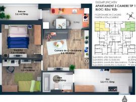 Apartament 3 camere cochet 66k
