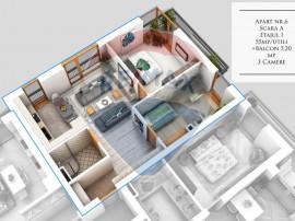 Apartament 3 camere | Bine compartimentat | 7 min. de Cal...