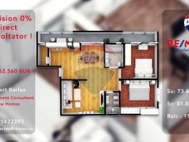 Apartament 3 camere 73mp utili 2 bai + balcon 16 mp