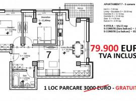 Apartament 3 camere Aviator Residence2, langa parc, parcare