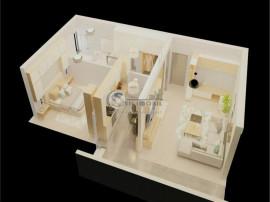 Apartament -2 camere - 50mp