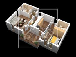 Apartament de in Sibiu - total decomandat - 2 balcoane - li