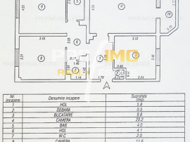 Tomis Nord TAV-uri, 3 camere decomandat CF.0, su.77mp.