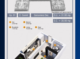 Garsoniera Decomandata-Balcon, Pollux Residence-Uverturii