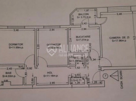 Apartament 3 camere, Inel 2, decomandat