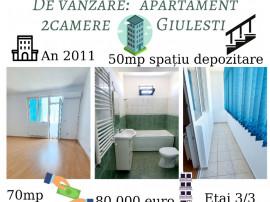Apartament 2camere +50mp spațiu de depozitare