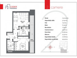 Apartament 2 camere Coder Residence 3