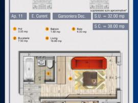 Garsoniera decomandata - Pollux Residence - 0%Comision