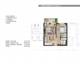 Cod P4085 - Studio dublu Belvedere Residence