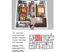 Apartament 2 camere - Theodor Pallady - Nicolae Teclu