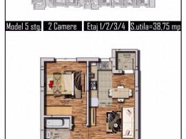 Apartament 2 camere,direct dezvoltator, Str Tineretului