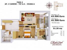 1minut metrou Pacii,Militari,apartament 2 camere in bloc nou