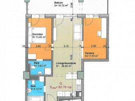 Apartament 3 camere finisat imobil nou Gheorgheni