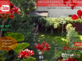 Vila Mare cu o Frumoasa Gradina Interioara si Doua Terase Ex