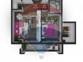 Apartament 2 camere 53.85 mpu | COMISION 0%