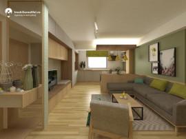 Apartament nou cu 2 camere - open space - 37 mp utili