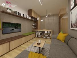 Apartament nou cu 2 camere - open space - 39 mp utili