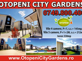Vila 4 camere Otopeni City Gardens - ultimele 3 vile libere