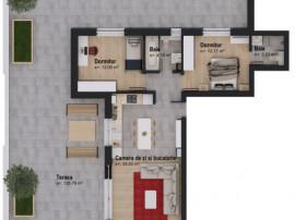 Apartament cu 3 camere la mansardă 5% DISCOUNT 01.05-31.05