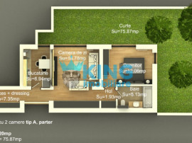 Apartament 2 Camere   Viilor Residence   Curte proprie 75m