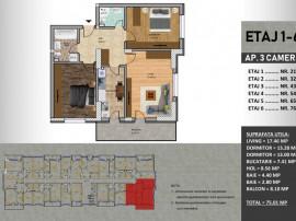 Apartament 3 camere-Lidl Metalurgiei
