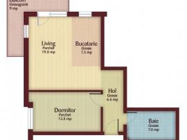 Apartament 2 camere decomandate, 53mp, parcare, str. Florilo