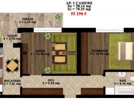 Apartament 2 camere PALLADY