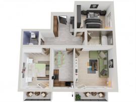 Apartament 3 camere decomandat, 72 mp utili, etajul 1
