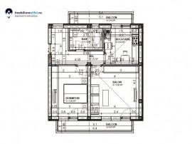 Apartament nou cu 2 camere - decomandat - 50.33