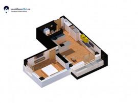 Apartament nou cu 2 camere - open space - 46,5 mp utili