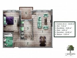 Apartament 2 camere decomandat Green Grove Residence